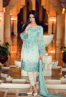Maya Ali PhotoShoot for Maria B Mbroidered Fabrics Collction 2016