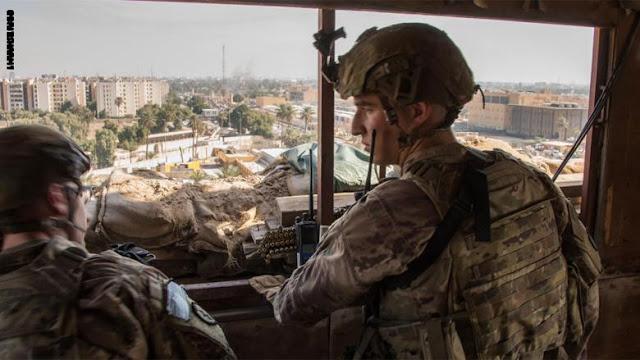 بالصور.. مراقبة عسكرية أمريكية للسفارة في بغداد