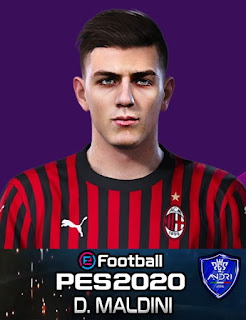 PES 2020 Faces Daniel Maldini by Sofyan Andri