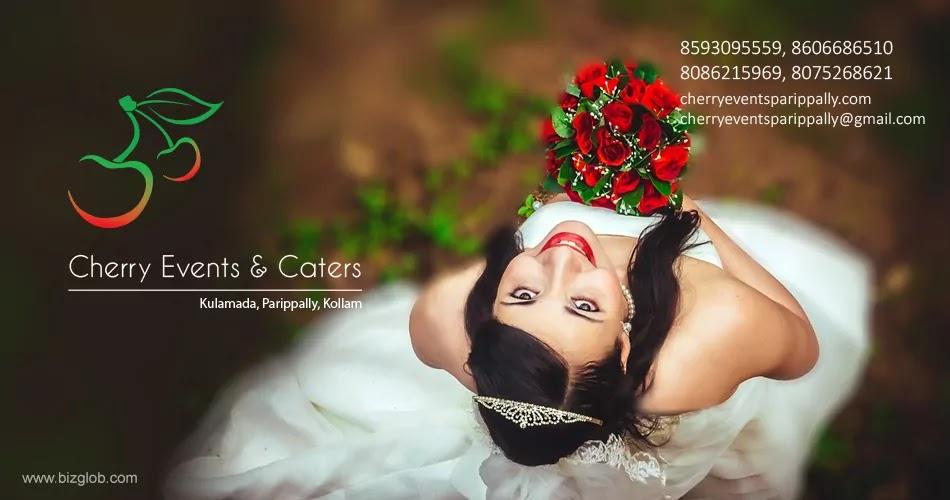 Cherry Events & Caters, Logo, Emblem, Parippally, Kollam