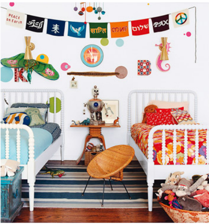 How to decorate shared rooms of boys and girls - Boy and girl room ...