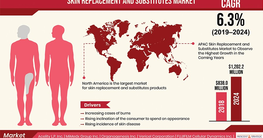 How is Rising Incidence of Burn Injuries Contributing in Skin Replacement and Substitutes Market Growth?