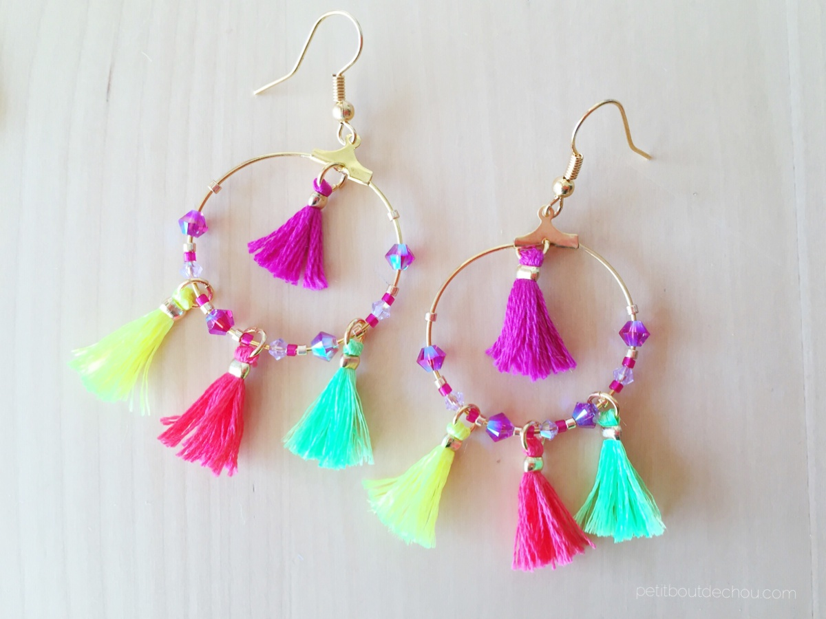 Diy Summer Mini Tassel Earrings Petit Bout De Chou