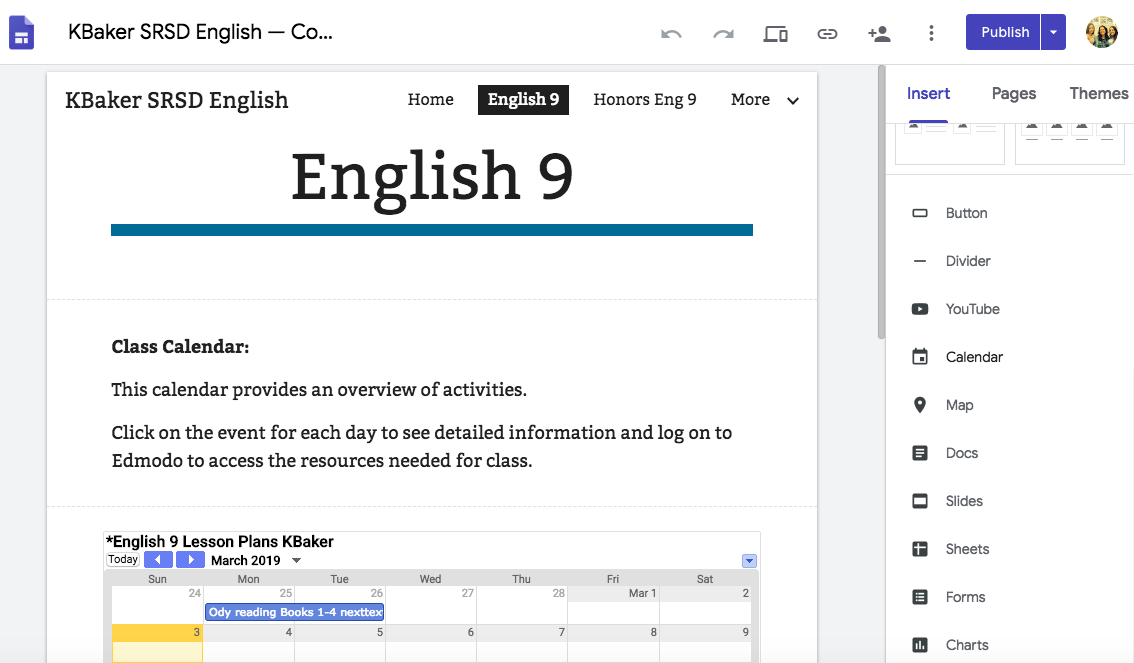 Quick, Paperless Lesson Planning with Google Calendar and