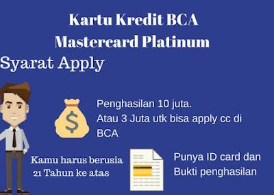 Gambar Ilustrasi Cara buat Kartu Kredit BCA Mastercard Platinum