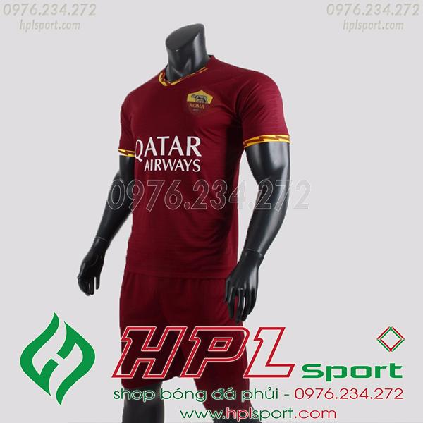 Áo câu lạc bộ AS Roma màu bã trầu 2020