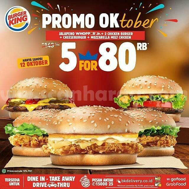 Burger KING Promo OK Periode 1 - 12 Oktober 2020