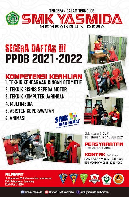 Download Desain Banner Promosi SMK Yasmida Ambarawa Jurusan TBSM