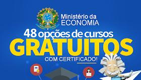 Ministério da Economia oferece 48 cursos a distancia e gratuitos com certificado!