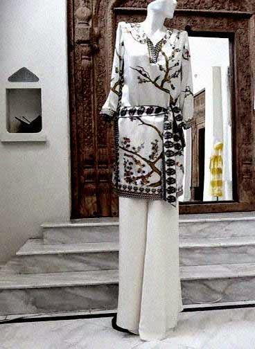 Body Focus trousers by Iman Ahmed - Pakistani designer wear