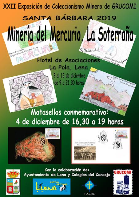 Cartel de la XXII exposición de coleccionismo minero de GRUCOMI
