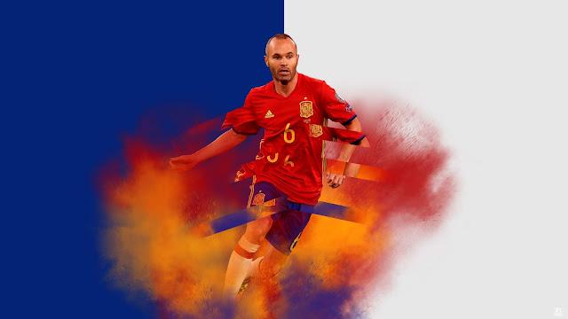 Illustration of Art - Andres Iniesta, Spain, FC Barcelona