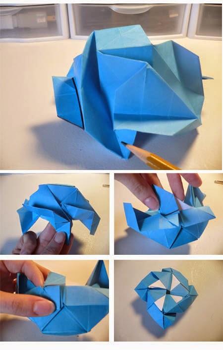 Cara Membuat Bunga Dari Kertas Lipat Seni Origami