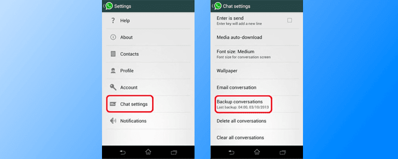 email whatsapp chat from android to iphone