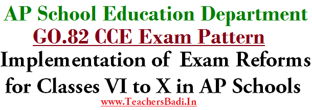 CCE Exam Pattern System,Exam Reforms,VI to X Classes AP Schools