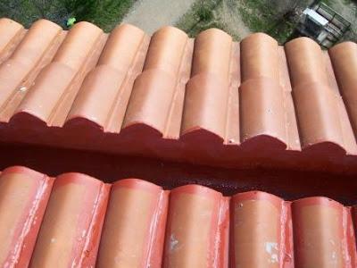 foto impermeabilización de un canalón en madrid
