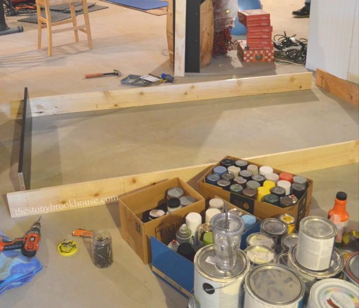 Building Paint Shelf