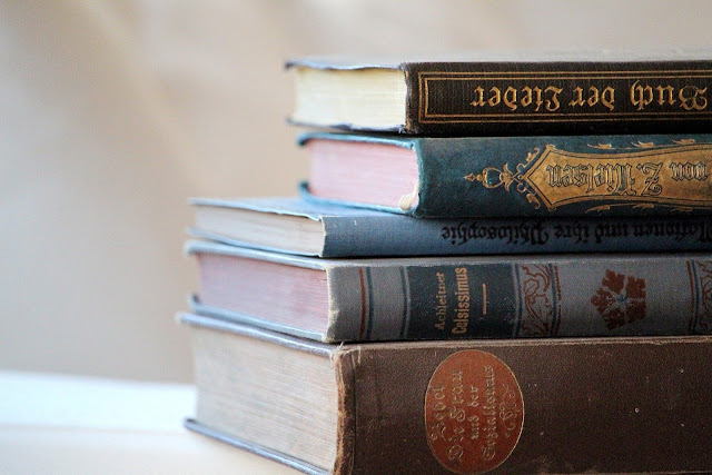 set of old books historic