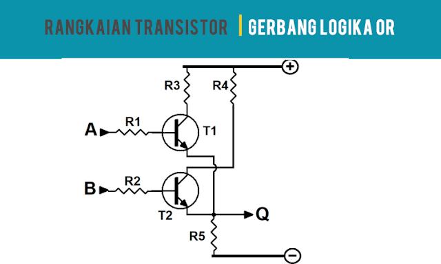 Rangkaian Transistor Gerbang Logikal OR
