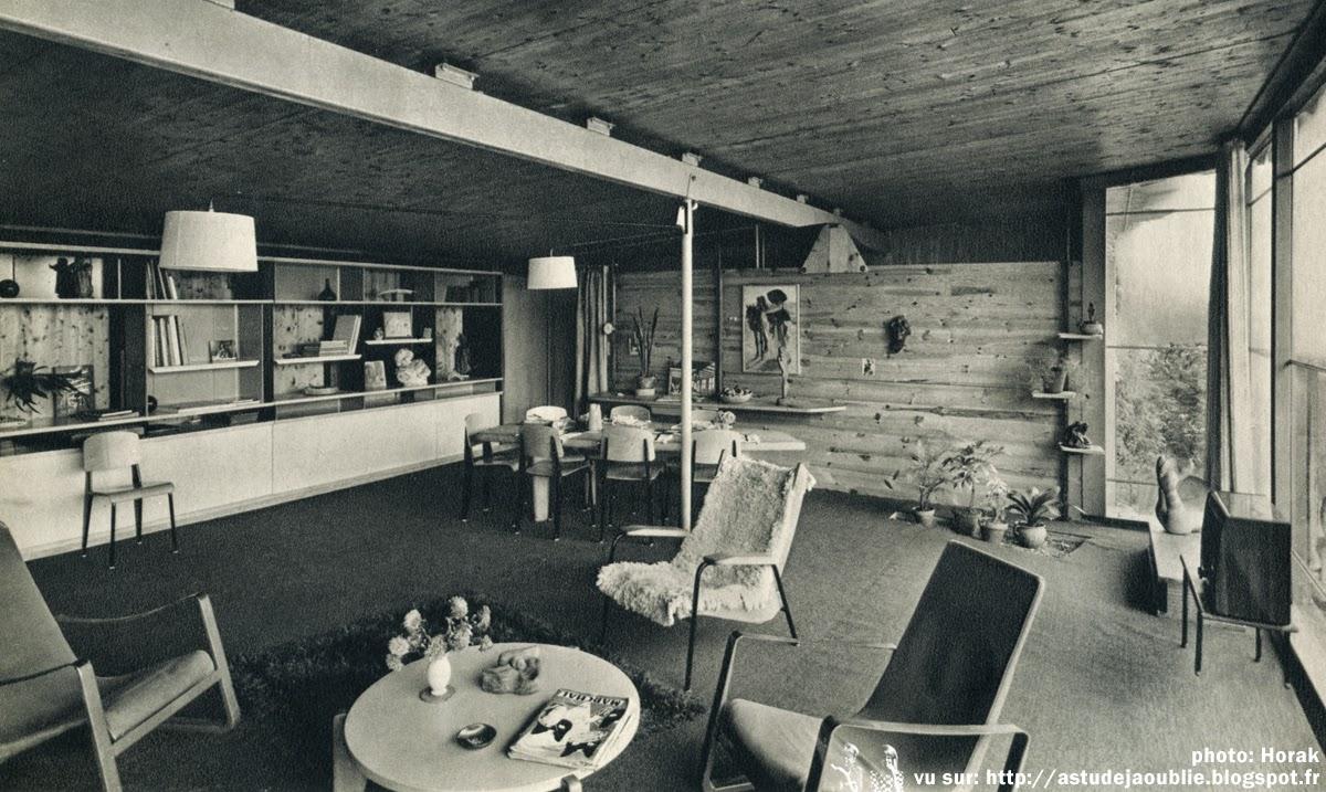 Nancy maison particuli re et atelier jean prouv 1954 - Salle de bain charlotte perriand ...
