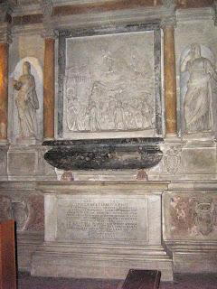 Gregory XI's tomb at the Basilica di Santa Francesca Romana, near the Roman Forum