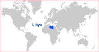 Gambar Peta letak Libya