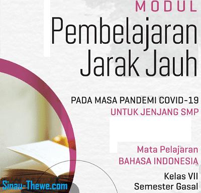 Modul Pjj Bahasa Indonesia Smp Mts Kelas 7 8 9 Semester 1 2 2020 2021 Sinau Thewe Com