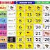 Kalendar dan takwim cuti sekolah 2021
