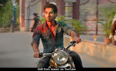 Shahid Kapoor in a still from the Kabir Singh teaser (courtesy YouTube)