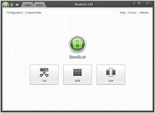 Screenshot Bandicut 2.8.2.388 Full Version