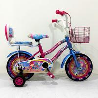 Sepeda Mini Anak Michel Princess 12 Inci x 1.75 Inci CTB Steel Ban Motif 2-4 Tahun Kids City Bike