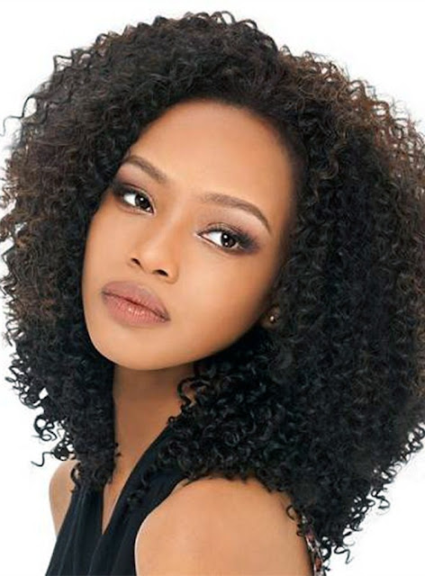 Curly 150% 18 Inches Lace Front Cap Synthetic Hair