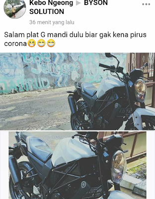 Yamaha Byson Modif ala Ducati Monster