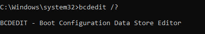 bcdedit windows commands
