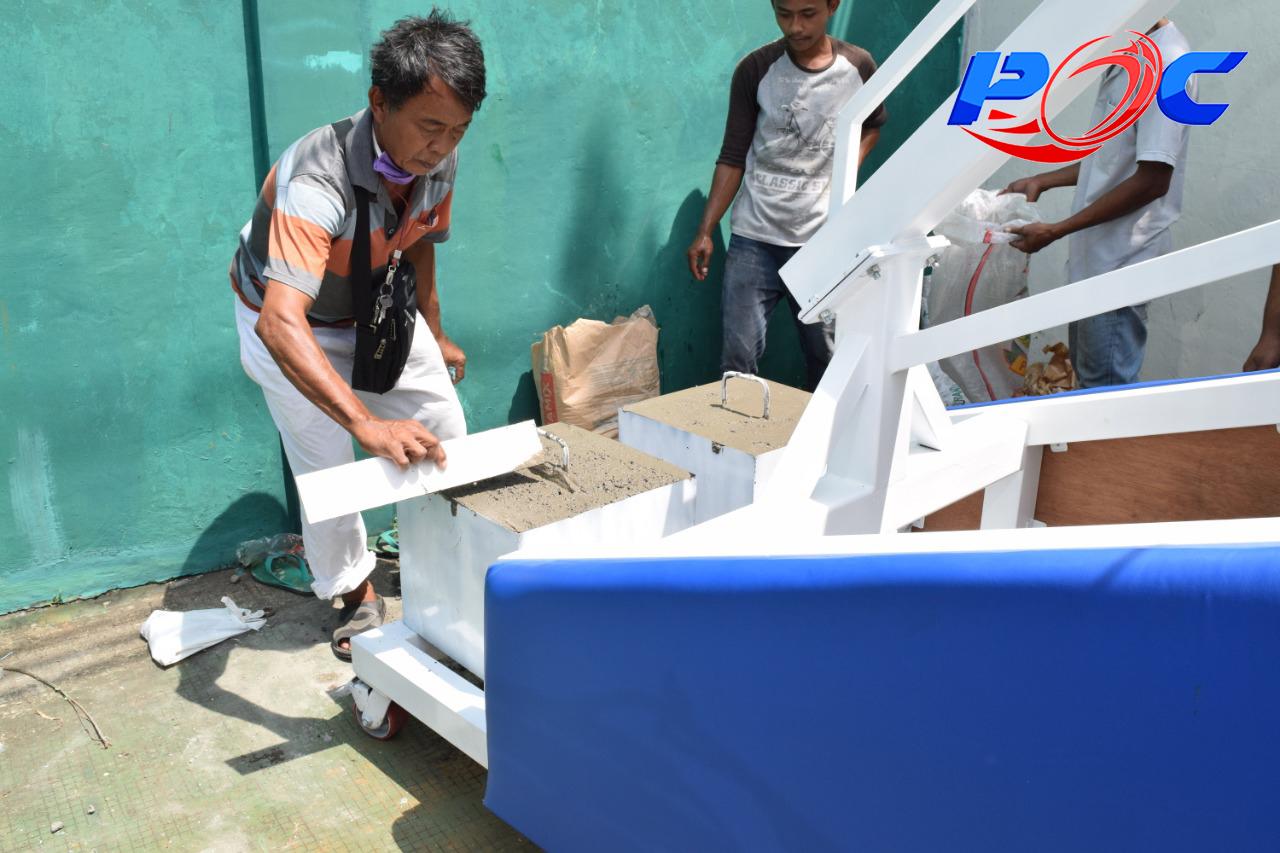 Pembuatan Pemberat Ring Basket Portable