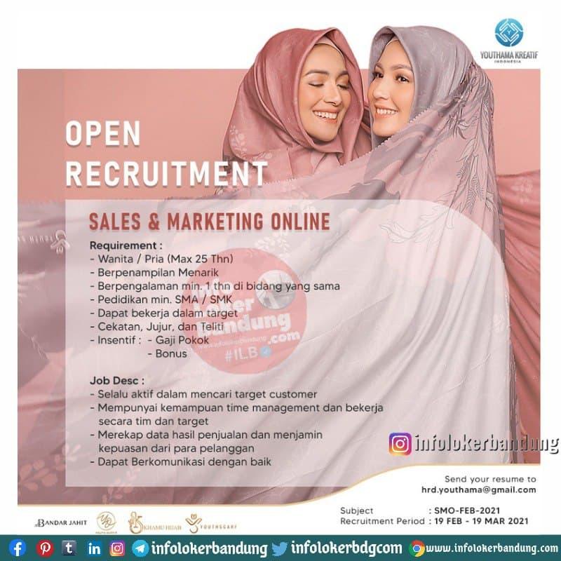 Lowongan Kerja PT. Youthama Kreatif Indonesia Bandung Februari 2021