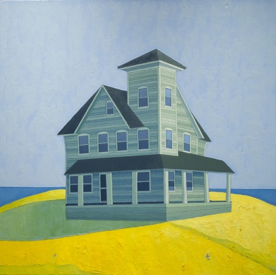 Lone Green House, 2011 por Scott Redden - Oil on linen