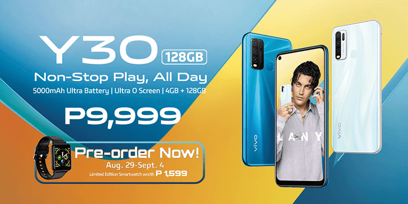 vivo Y30 with Ultra O Screen, 4GB RAM, 128GB storage, and 5,000mAh battery arrives in PH for PHP 9,999