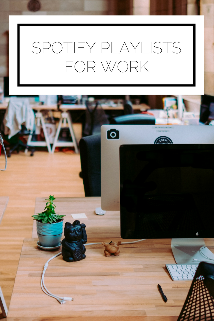 Click to read now or pin to save for later! Looking for music to listen to at work? Here are the best Spotify playlists for your work day