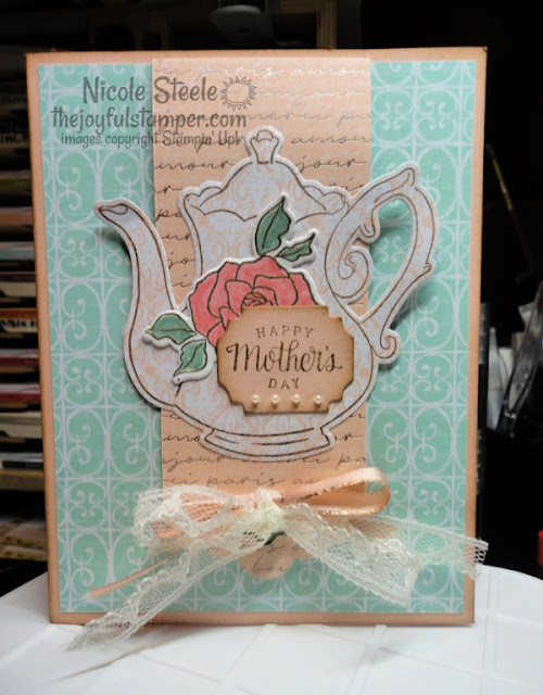 Mother's Day card | Fun Fold | Stampin' Up! Tea Together stamps | Tea Time dies | Nicole Steele The Joyful Stamper