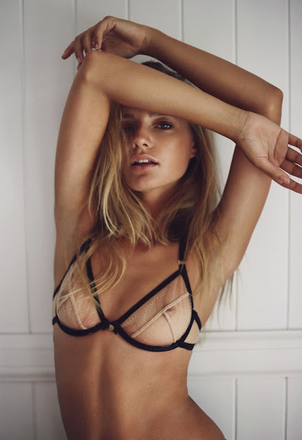 Maya Stepper strips to racy lingerie for Gooseberry Intimates
