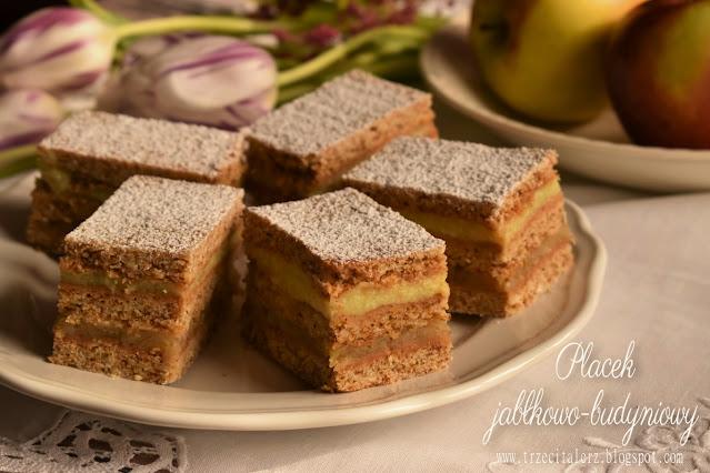 Ciasto jabłkowo-budyniowe – kuchnia podkarpacka