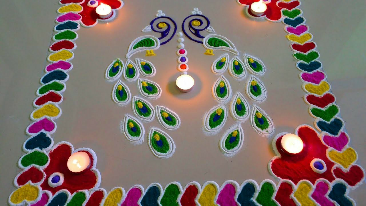 Happy New Year Rangoli 15