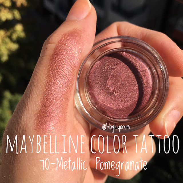 maybelline color tattoo 70 metallic pomegranate göz farı