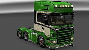 S.T.M Scania Truck with Trailer, Addons, interior and skin