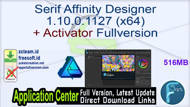 Serif Affinity Designer 1.10.0.1127 (x64) + Activator Fullversion
