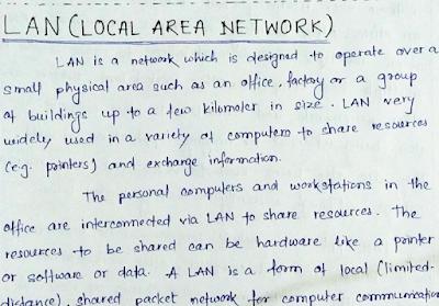 Handwritten Assignments On Network By Bhavtosh Modi