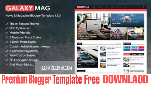 Galaxymag v1.7.0 - Responsive News/Magazine Free Premium Blogger Template