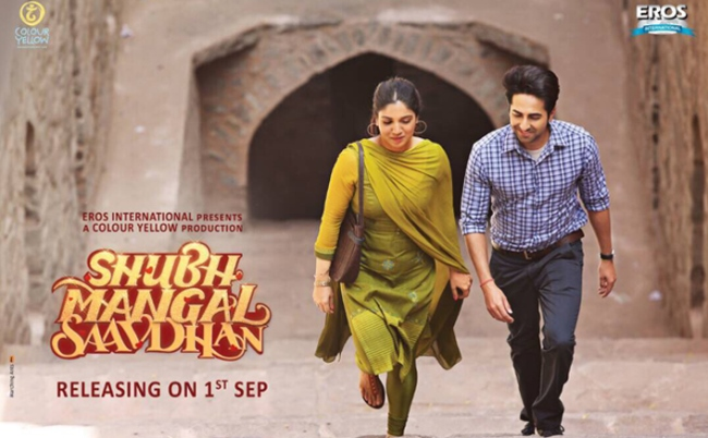 Shubh Mangal Saavdhan new upcoming movie first look, Poster of Bhumi Pednekar and Ayushmann Khurrana download first look Poster, release date