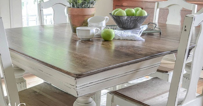 Antique Dining Table Updated With Chalk, Painting A Dining Room Table And Chairs